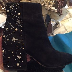 Sam Edelman suede and embellished heel boots